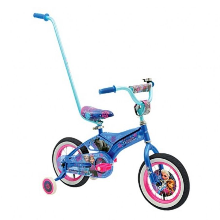One of Kyries Christmas presebts this year ~ 2016 ~ Disney Frozen 30cm Padded Bike with Push Handle
