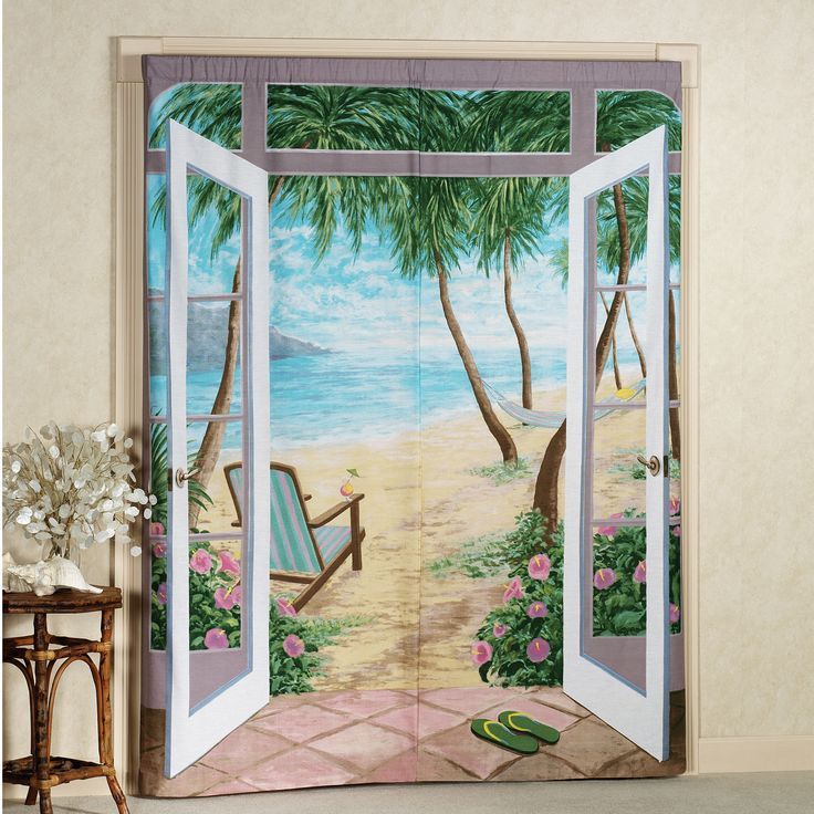 Island Breeze Trompe Lu0027oeil Window Art
