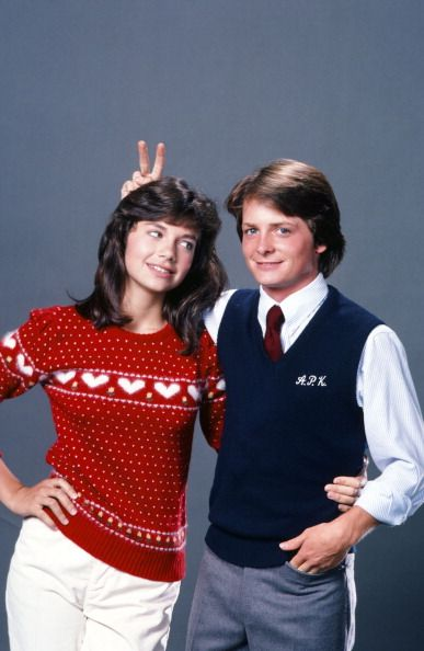 Family Ties - Mallory (Justine Bateman) and Alex (Michael J. Fox) acting like true siblings :)