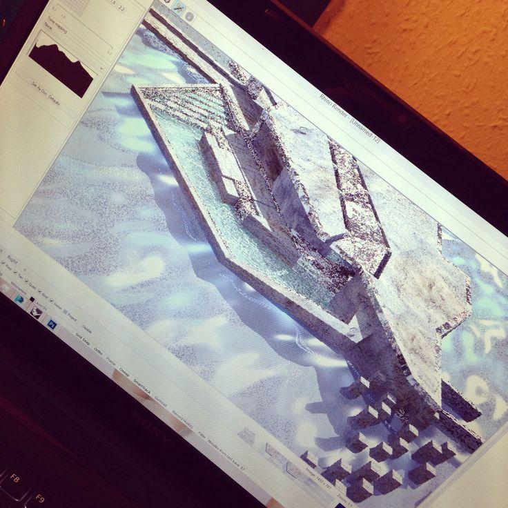 3d render #stone #architecture