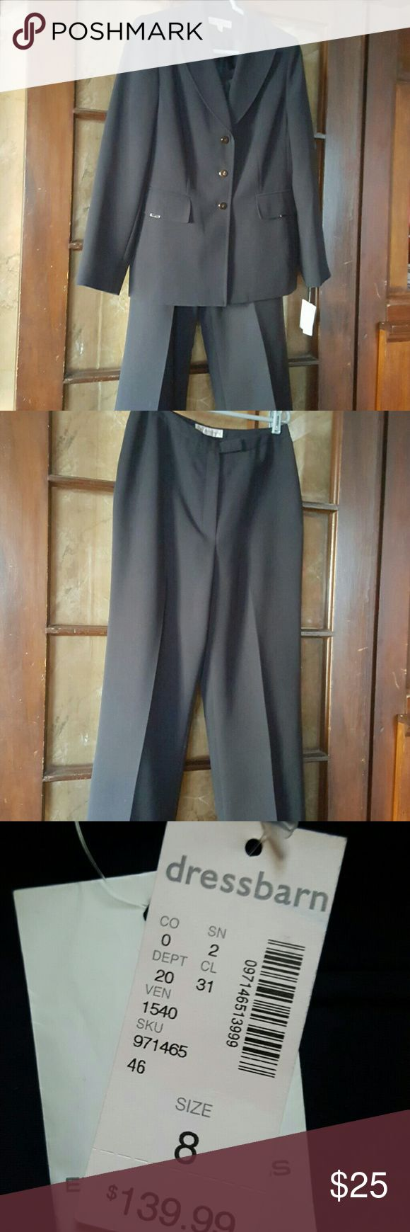 Womens suit dark navy Dark Navy blue linned pants brand new Dressbarn Pants