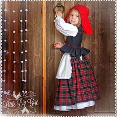 Костюм Красной Шапочки - комбинированный, красная шапочка, костюм для фотосессии, костюм детский