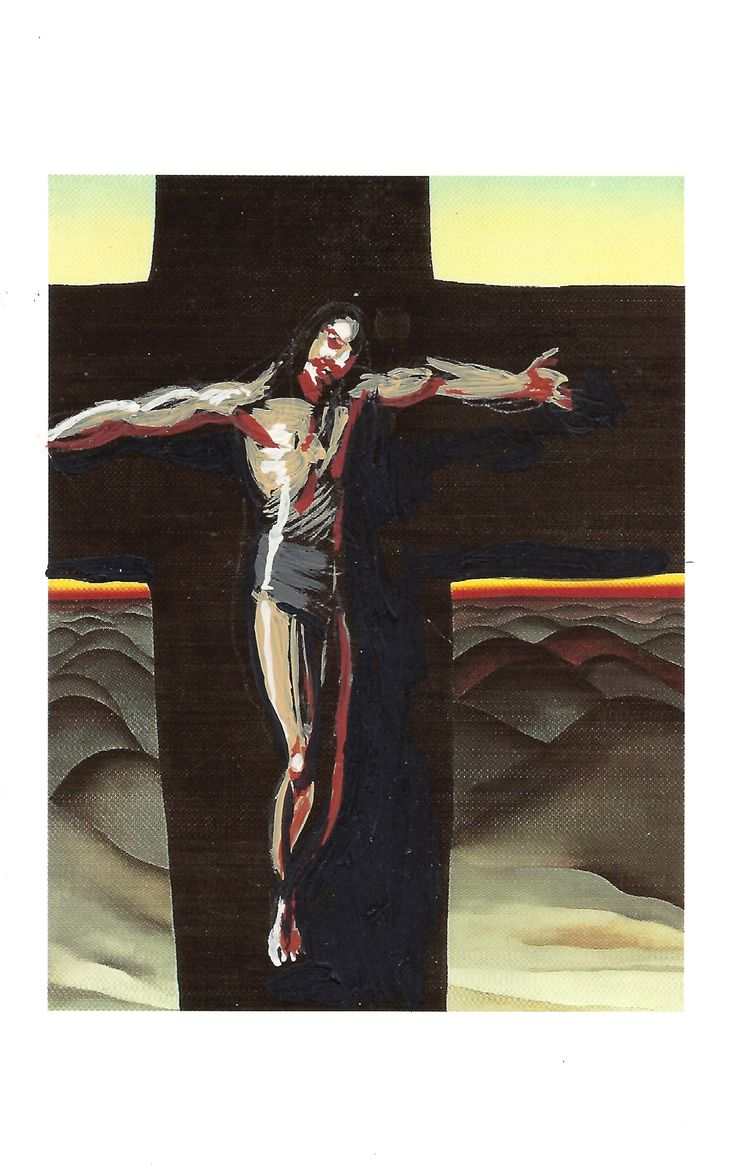 The Cross, post card painting #7, created by #artist Vince Mancuso