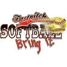 fastpitch mom   Fastpitch Softball Bring It Classic Ball Logo White T Shirt - $9.95