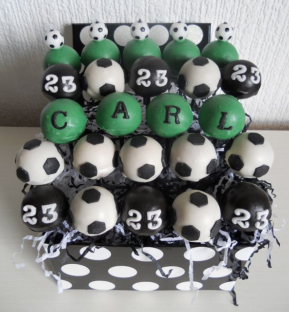 Cake Pop Decorating Ideas Uk : 31 best images about Football / Soccer Cake Pops on ...