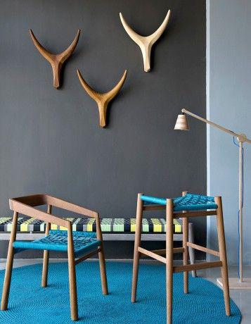 www.south-design.nl - Nguni cow design range - designer John Vogel - eco friendly design - handmade - South Africa -