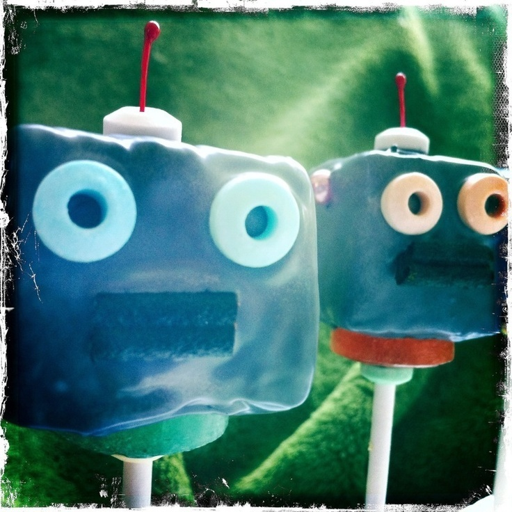 Robot Cake Pops from cutoutandkeep.net