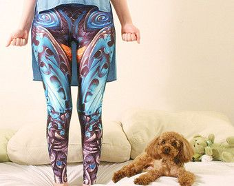 BE THE HERO Leggings/ Hippie Pants Bottoms/ Boho by KOMAWO on Etsy