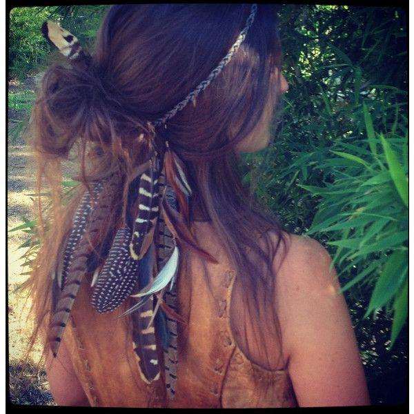 Headband/Hatband // Double strand feathers and organic hemp, tribal, hippie, boho, bohemian, native american