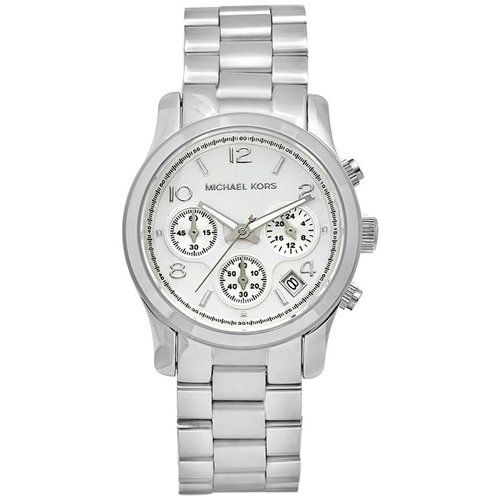 Michael Kors Women's MK5076 Silver Stainless-Steel Quartz Watch with Silver Dial