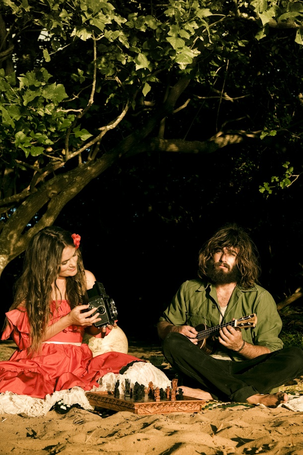 "Angus and Julia Stone.  Great, soothing, acoustic music.     The first song I heard was a cover of ""you better shape up"" from Grease, a song that I normally hate, but they make it beautiful.  Brother sister duo"