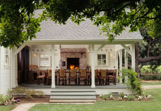 Open air dining room. Yes.: Dining Room, Outdoor Dining, Outdoor Living, Outdoor Room, Patio, Farmhouse, Back Porches, Outdoor Spaces