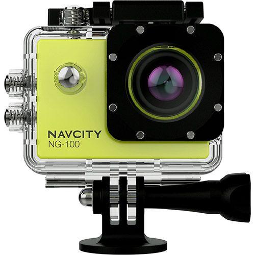 Câmera Esportiva Navcity Verde 12MP Filmagem Full HD 30M à Prova d'água + Selfie Stick