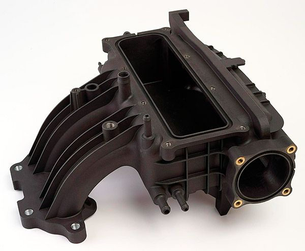 3D printed Automotive intake manifold functional prototype  - material Windform SP