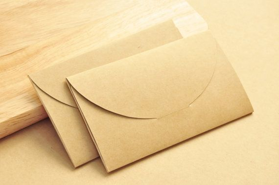 Schede di busta, imballaggio di carta kraft & busta di spedizione, dimensioni 9.3x5.5x0.3 cm, 25 pz.