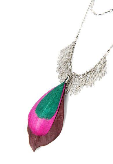 Acacia Ezüstszín Nyaklánc Tolldísszel a MANGO márkától és további hasonló termékek a Fashion Days oldalán