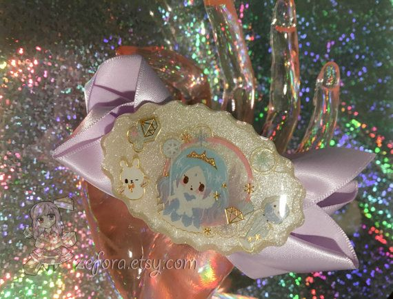 Frozen Ice Queen Japanese Character Oval Resin Charm And by zefora