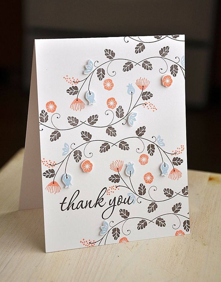 Thank You Card by Maile Belles for Papertrey Ink (March 2014)