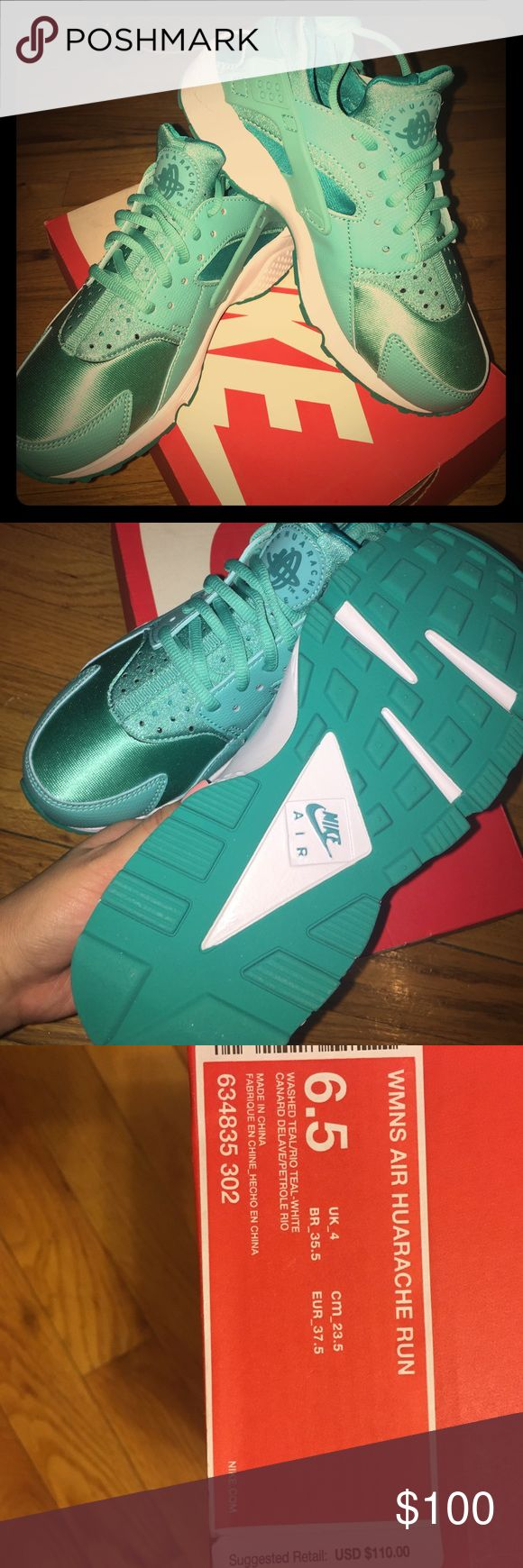 Women's air HUARACHE run BRAND NEW!! Women's air HUARACHE run in washed teal! only one pair, size 6.5 Nike Shoes Sneakers
