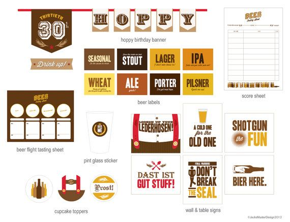 Oktoberfest Beer Tasting Party Printables by JacksMaster on Etsy