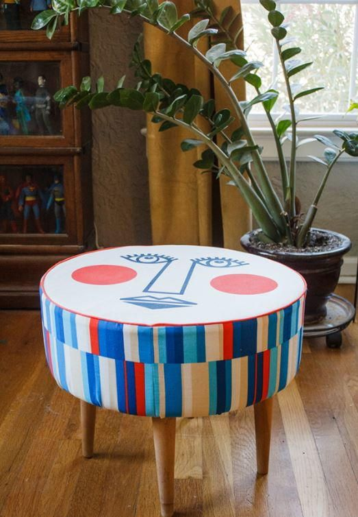 Mid-Century Modern Ottoman | Give your home a 60s makeover with this fun project!