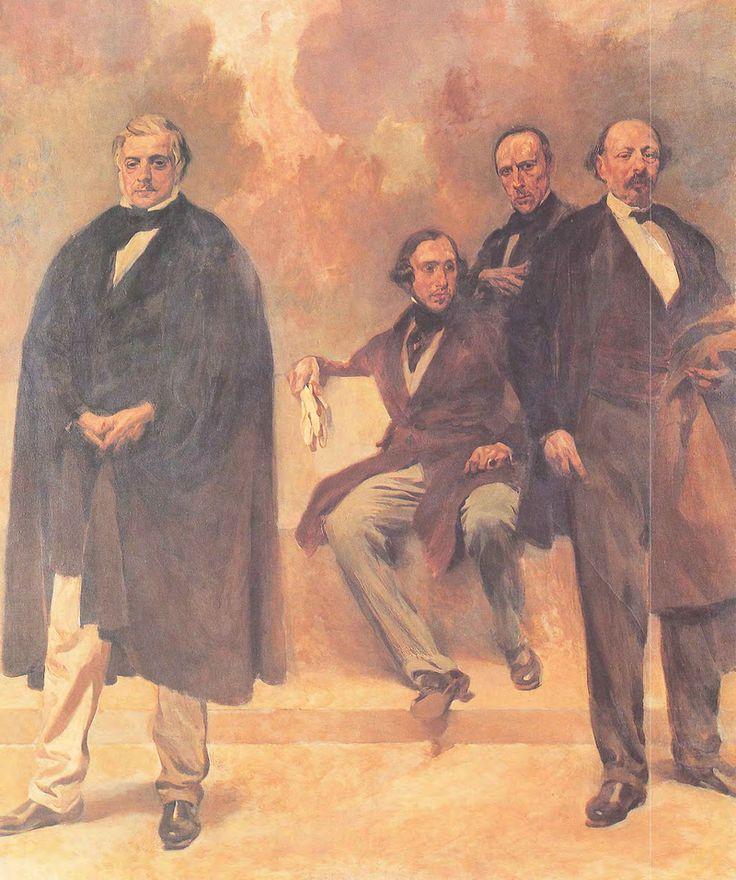 C. B. Pinheiro - Passos Manuel, Almeida Garrett, Alexandre Herculano e José Estevão de Magalhães.png