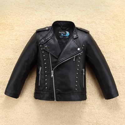 Rivets Leather Jacket | Furrple