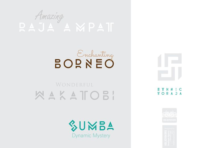 Ethnic Toraja typeface