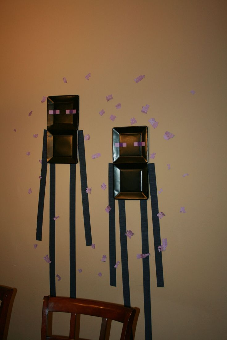 Enderman decoration.  Also, if you click on the link, you can see a bunch of pics that have other ideas.  I like the creeper that is peeking out of the front door.