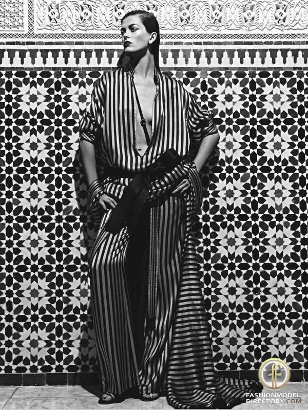 "Marlena Szoka featured in AMICA Italy editorial ""Marrakech"" May 2011"