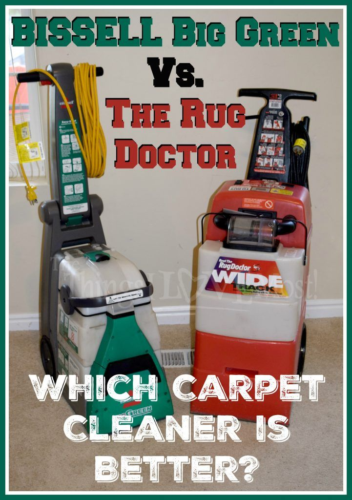 BISSELL Big Green Vs. The Rug Doctor - Which Carpet Cleaner is Better?