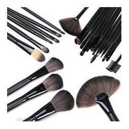 Makeup-/sminkborstar 24st + fodral