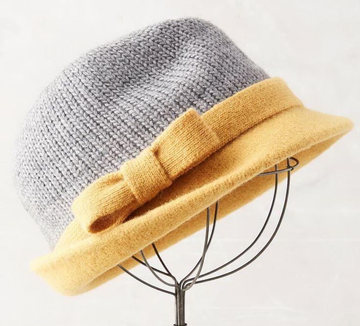 Комбинированная шляпка