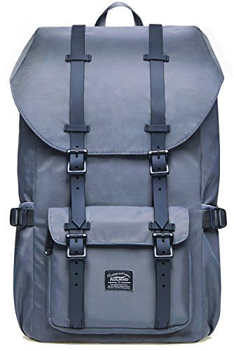"""Laptop Outdoor Backpack, Travel Hiking& Camping Rucksack Pack, Casual Large College School Daypack, Shoulder Book Bags Back Fits 15"""" Laptop & Tablets by Kaukko (Nylon Grey). For product & price info go to:  https://all4hiking.com/products/laptop-outdoor-backpack-travel-hiking-camping-rucksack-pack-casual-large-college-school-daypack-shoulder-book-bags-back-fits-15-laptop-tablets-by-kaukko-nylon-grey/"""