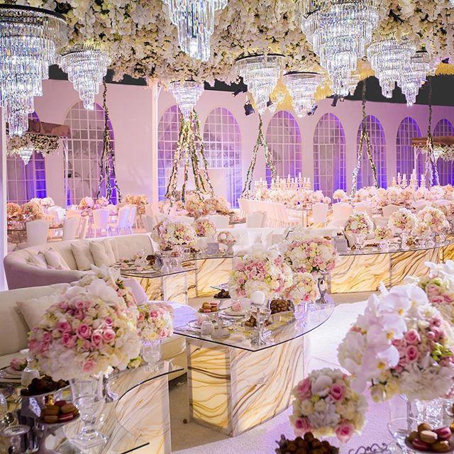 Beautiful Wedding Decoration Ideas: This Spectacular Doha, Qatar Wedding Reception Is A Flower