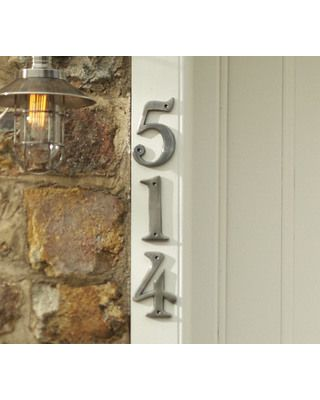 looking for new numbers for the remodled front entry.  This will do well.