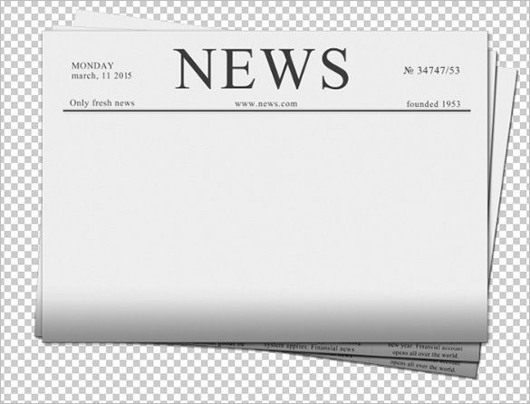 Newspaper Template Png Demire Agdiffusion Pertaining To Blank