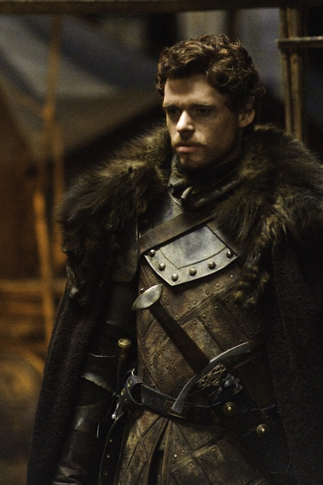 Robb Stark is the oldest child of Eddard Stark and Catelyn Stark and is the heir to Winterfell, the Stark ancestral home. He bears great responsibility without complaint and shares his father's devotion to honor and justice. He is close to his half-brother Jon Snow