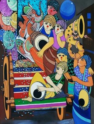 Buy and Sell Paintings Online | Indian Artists Art Gallery Online | Contemporary Paintings - mojarto.com. dnyaneshwar bembade