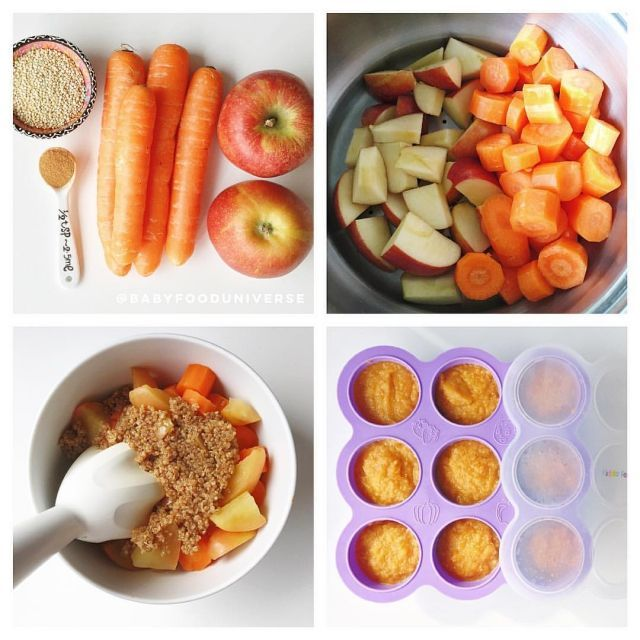 Apple Quinoa baby food recipe super delicious baby food combination with a sprinkle of cinnamon to stimulate your little ones senses