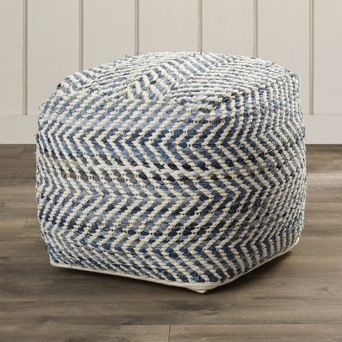 Found it at Wayfair Supply - Lubec Chevron Pouf Ottoman