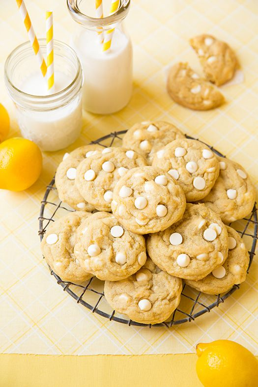 Lemon White Chocolate Chip Cookies - Cooking Classy