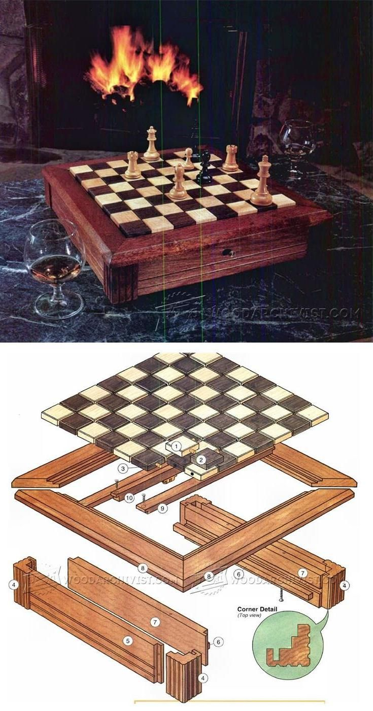 Chess Board Plans - Woodworking Plans and Projects | WoodArchivist.com