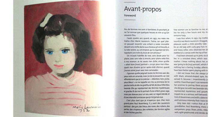 portrait anne sinclair par marie laurencin, livre sur marie laurencin, paul rosenberg
