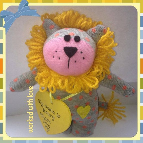 Roary the sock lion has been lovingly by workedwithlove on Etsy, £12.00