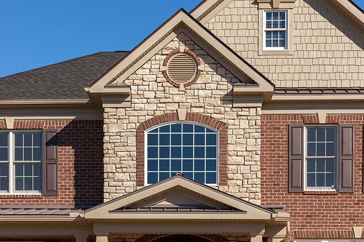 17 best images about combination glen gery brick for Brick stone combinations