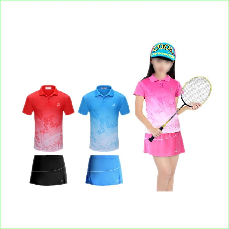 30.00$  Watch here - http://ali1pi.shopchina.info/1/go.php?t=32769690299 - Girl Tennis Badminton Suits With Children Tee Shirt and Sports Skirt Quick Dry 30.00$ #buyonlinewebsite
