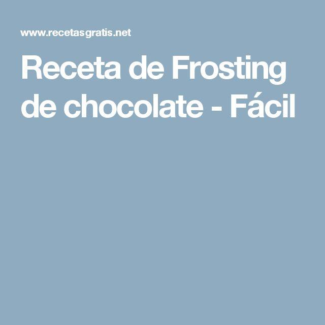 Receta de Frosting de chocolate - Fácil