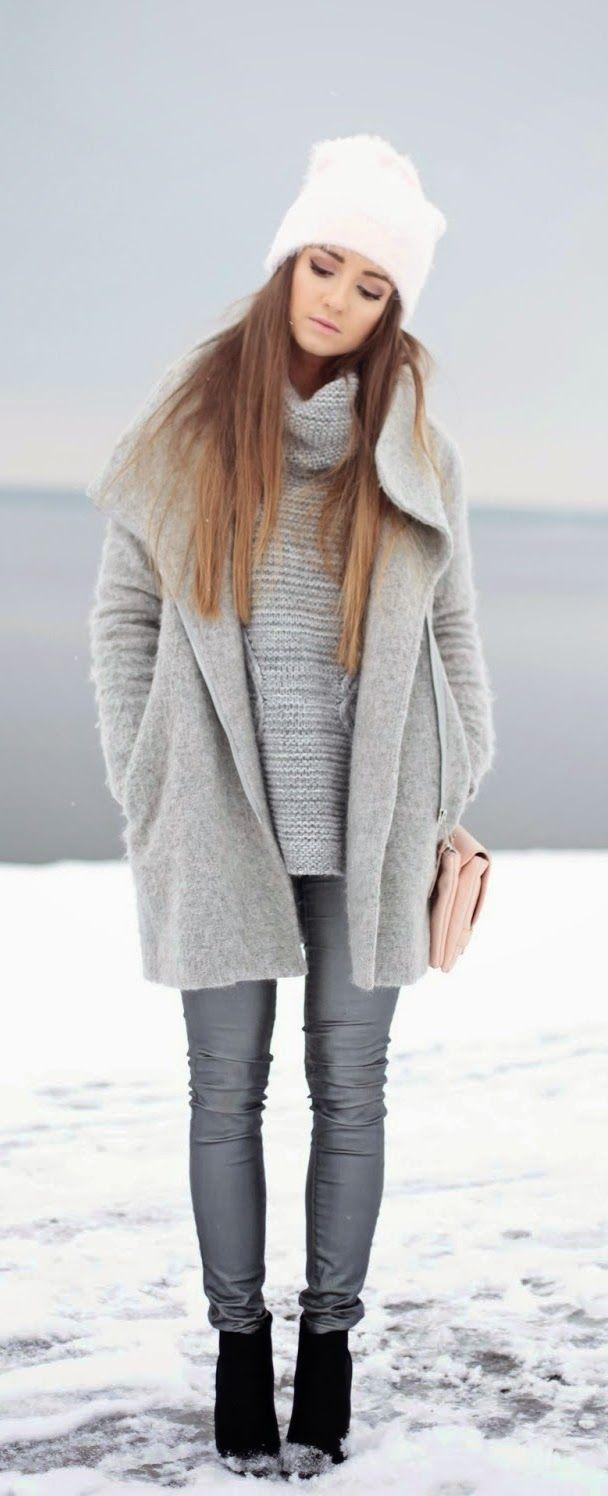 Fluffly Grey + Faux Grey Pant / Best LoLus Street Fashion
