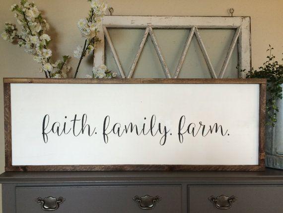 Faith. Family. Farm Wood Sign by JoJoRaeHome on Etsy